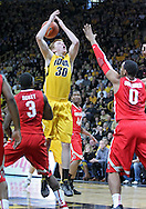 January 07, 2011: Iowa Hawkeyes forward Aaron White (30) loses the ball as he drives on Ohio State Buckeyes forward Jared Sullinger (0) during the the NCAA basketball game between the Ohio State Buckeyes and the Iowa Hawkeyes at Carver-Hawkeye Arena in Iowa City, Iowa on Saturday, January 7, 2012.