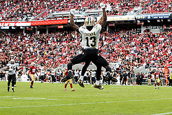 SANTA CLARA, CA - NOVEMBER 06: Wide receiver Michael Thomas #13 of the New Orleans Saints is congratulated by Willie Snead (back) after scoring a touchdown against the San Francisco 49ers during the fourth quarter at Levi's Stadium on November 6, 2016 in Santa Clara, California. The New Orleans Saints defeated the San Francisco 49ers 41-23. (Photo by Jason O. Watson/Getty Images) *** Local Caption *** Michael Thomas; Willie Snead