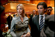 Donald Trump, Donald Trump jr. and Ivanka Trump at a  press conference launching building plans of the Trump Ocean Club, International Hotel and Tower in Panama.