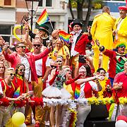 NLD/Amsterdam/20170805 - Gaypride 2017, boot Circus Renz