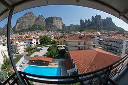 View of Meteora from Kala<br /> baka, Greece
