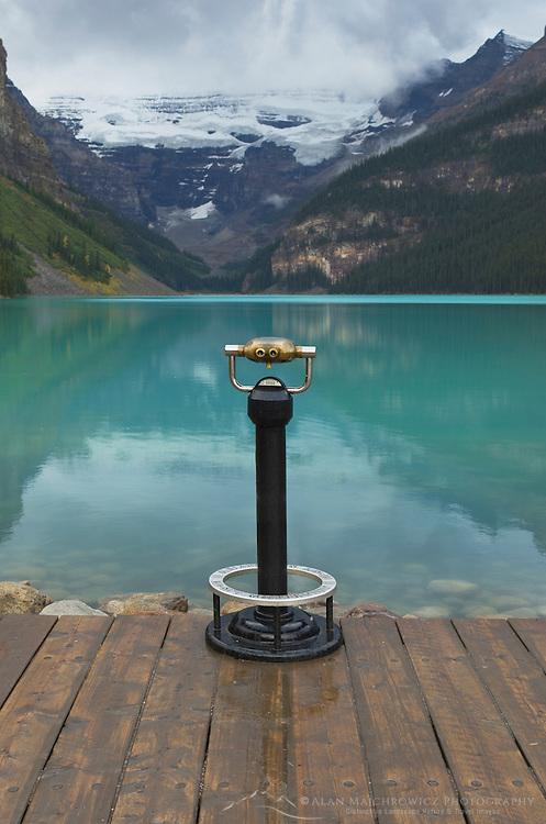 Coin Operated binoculars, Lake Louise, Banff National Park