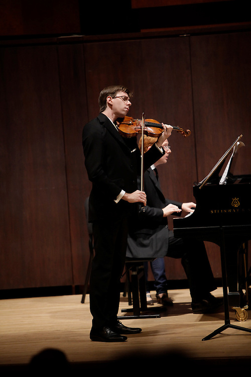 David Fulmer on Violin and Steven on Piano perform at  Paul Recital Hall, Juilliard School during  Juilliard's 40th Anniversary Concert  on October 8, 2009 in New York City. photo by Joe Kohen for The New York Times