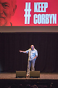 Dave Ward, general secretary of the CWU speaking at the #KeepCorbyn event, part of the #JC4PM tour a fringe event orgainised as part of the TUC 2016 by PCS. Brighton, UK.
