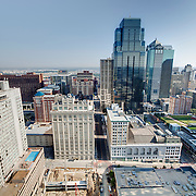 Exterior view from Power and Light Building in downtown Kansas City during renovation.