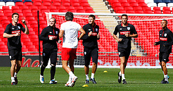 02.09.2010, Wembley Stadion, London, ENG, Training Nationalmannschaft England, im Bild Michael Carrick. Wayne Rooney, Steven Garrerd Matther Upson and Kieran Gibbs, EXPA Pictures © 2010, PhotoCredit: EXPA/ IPS *** ATTENTION *** UK AND FRANCE OUT! / SPORTIDA PHOTO AGENCY