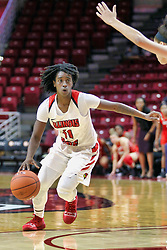 NORMAL, IL - December 04: Te Te Maggett during a college women's basketball game between the ISU Redbirds  and the Austin Peay Governors on December 04 2018 at Redbird Arena in Normal, IL. (Photo by Alan Look)