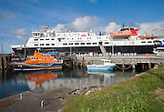 Caledonian MacBrayne ferry at Castlebay harbour Barra, Outer Hebrides, Scotland, UK
