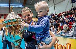 02-10-2016 NED: Supercup VC Sneek - Eurosped, Doetinchem<br /> Eurosped wint de Supercup door Sneek met 3-0 te verslaan / Rochelle Wopereis #12 of Eurosped