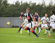 Dundee&rsquo;s Cammy Kerr heads home the winning goal  - Dumbarton v Dundee, pre-season friendly at the Cheaper Insurance Direct Stadium, Dumbarton<br /> <br />  - &copy; David Young - www.davidyoungphoto.co.uk - email: davidyoungphoto@gmail.com
