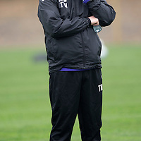 St Johnstone Training....04.10.13<br /> Manager Tommy Wright pictured in training this morning ahead of tomorrow's game against Inverness.<br /> Picture by Graeme Hart.<br /> Copyright Perthshire Picture Agency<br /> Tel: 01738 623350  Mobile: 07990 594431