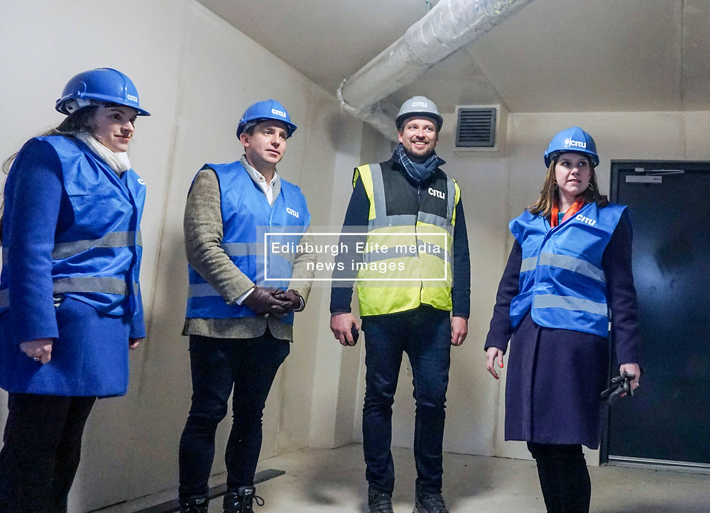 Pictured: <br /> Liberal Democrat Leader Jo Swinson, meets with staff as she visits the Little Kelham with sustainable urban development company Citu during a General Election campaign trail stop in Sheffield. Britain will go to the polls on December 12, 2019 to vote in a pre-Christmas general election<br /> <br /> Giannis Alexopoulos | EEm date