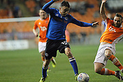 Ollie Rathbone is fouled during the EFL Sky Bet League 1 match between Blackpool and Rochdale at Bloomfield Road, Blackpool, England on 26 September 2017. Photo by Daniel Youngs.