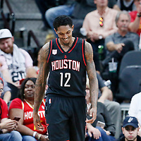 01 May 2017: Houston Rockets guard Lou Williams (12) is seen during the Houston Rockets 126-99 victory over the San Antonio Spurs, in game 1 of the Western Conference Semi Finals, at the AT&T Center, San Antonio, Texas, USA.