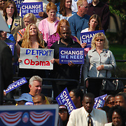 Barack Obama Detroit rally, in front of the Detroit Public Library on Sunday, September 28, 2008.