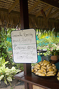 Roadside fruit, vegetable and flower market, Moorea, French Polynesia
