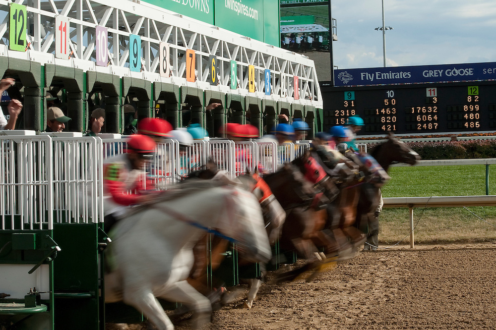4 October 2010: The start of the the 7th race Thursday at Churchill Downs in Louisville, KY.
