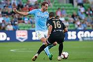 MELBOURNE, VIC - JANUARY 22: Melbourne City midfielder Rostyn Griffiths (7) crosses the ball at the Hyundai A-League Round 15 soccer match between Melbourne City FC and Western Sydney Wanderers at AAMI Park in VIC, Australia 22 January 2019. Image by (Speed Media/Icon Sportswire)