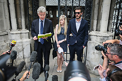 Connie Yates and Chris Gard leaving Royal Court of Justice after the latest battle for their son Charlie Gard medical treatment - London. 10 Jul 2017 Pictured: Connie Yates and Chris Gard. Photo credit: MEGA TheMegaAgency.com +1 888 505 6342