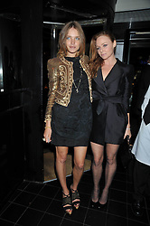 Left to right, NATALIA VODIANOVA and STELLA McCARTNEY at a dinner hosted by Alexandra Shulman editor of British Vogue in association with Net-A-Porter.com to celebrate 25 years of London Fashion Week and Nick Knight held at Le Caprice, Arlington Street, London on 21st September 2009.