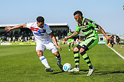 Forest Green Rovers Keanu Marsh-Brown(7) on the ball during the Vanarama National League Play Off second leg match between Forest Green Rovers and Dagenham and Redbridge at the New Lawn, Forest Green, United Kingdom on 7 May 2017. Photo by Shane Healey.