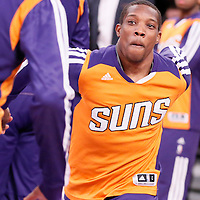 10 December 2013: Phoenix Suns point guard Eric Bledsoe (2) is seen during the players introduction prior to the Phoenix Suns 114-108 victory over the Los Angeles Lakers at the Staples Center, Los Angeles, California, USA.