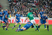 Rob Kearney (IRL), Henry Chavancy (FRA), Jefferson Poirotl (FRA), Guilhem Guirado (FRA), Maxime Machenaud (FRA) during the NatWest 6 Nations 2018 rugby union match between France and Ireland on February 3, 2018 at Stade de France in Saint-Denis, France - Photo Stephane Allaman / ProSportsImages / DPPI