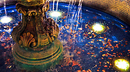 A simple picture of a penny fountain.<br /> <br /> Camera <br /> NIKON D5000<br /> Lens <br /> 35.0 mm f/1.8<br /> Focal Length <br /> 35<br /> Shutter Speed <br /> 1/30<br /> Aperture <br /> 1.8<br /> ISO <br /> 250