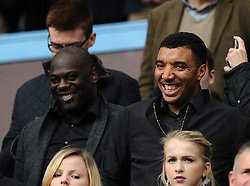 Watford's Troy Deeney watches from the stand  - Photo mandatory by-line: Joe Meredith/JMP - Mobile: 07966 386802 - 09/05/2015 - SPORT - Football - Birmingham - Villa Park - Aston Villa v West Ham United - Barclays Premier League