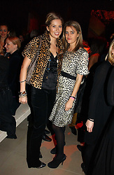 Left to right, ALEXANDRA FINLAY and VIOLET VON WESTENHOLTZ at the launch party for Donna Karan's new fragrance Gold held at the Donna Karan store, 19 New Bond Street, London on 16th November 2006.<br />