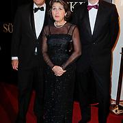 NLD/Amsterdam/20120115 - Premiere Suskind, Halbe Zijlstra en partner en staatsecretaris Marlies Veldhuijzen van Zanten