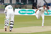 Ethan Bamber bowling to Hassan Azad during the Specsavers County Champ Div 2 match between Middlesex County Cricket Club and Leicestershire County Cricket Club at Lord's Cricket Ground, St John's Wood, United Kingdom on 17 May 2019.