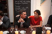 Massimiliano Gioni;  Cecilia Alemani , DINNER TO CELEBRATE THE ARTISTS OF FRIEZE PROJECTS AND THE EMDASH AWARD 2012 hosted by ANDREA DIBELIUS founder EMDASH FOUNDATION, AMANDA SHARP and MATTHEW SLOTOVER founders FRIEZE. THE FORMER CENTRAL ST MARTIN'S SCHOOL OF ART AND DESIGN, SOUTHAMPTON ROW, LONDON WC1. 11 October 2012
