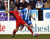 Photo: Olly Greenwood.<br />Colchester United v Coventry City. Coca Cola Championship. 10/03/2007. Colchester's Kevin McLeod is fouled by Coventry's Michael Doyle