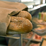 Seeded Italian rolls at Taylor are brought in daily from Sarcone's Bakery in Philadelphia.
