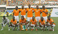 Photo: Steve Bond/Richard Lane Photography.<br />Nigeria v Ivory Coast. Africa Cup of Nations. 21/01/2008. Ivory Coast line up
