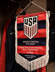 July 26, 2017 - Santa Clara, CA, USA - Santa Clara, CA - Wednesday July 26, 2017: USMNT locker room during the 2017 Gold Cup Final Championship match between the men's national teams of the United States (USA) and Jamaica (JAM) at Levi's Stadium. (Credit Image: © John Dorton/ISIPhotos via ZUMA Wire)