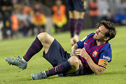 October 20, 2018 - Barcelona, Catalonia, Spain - Leo Messi injuried during the spanish league La Liga match between FC Barcelona and Sevilla FC at Camp Nou Stadium in Barcelona, Catalonia, Spain on October 20, 2018  (Credit Image: © Miquel Llop/NurPhoto via ZUMA Press)