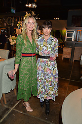 Left to right, WILLOW CROSSLEY and ISABEL SPEARMAN at a party to celebrate the publication of Flourish by Willow Crossley held at OKA, 155-167 Fulham Rd, London on 4th October 2016.