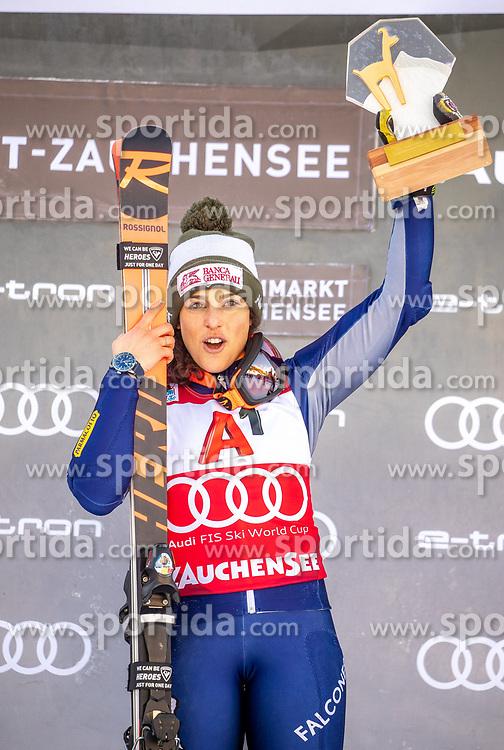 12.01.2020, Keelberloch Rennstrecke, Altenmark, AUT, FIS Weltcup Ski Alpin, Alpine Kombination, Damen, Siegerehrung, im Bild Federica Brignone (ITA, 1. Platz) // race winner Federica Brignone of Italy during the winner ceremony of women's Alpine combined for the FIS ski alpine world cup at the Keelberloch Rennstrecke in Altenmark, Austria on 2020/01/12. EXPA Pictures © 2020, PhotoCredit: EXPA/ Johann Groder
