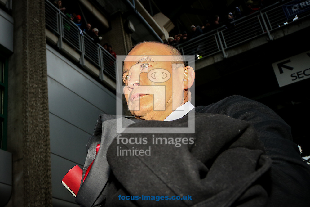 England head coach Eddie Jones arrives for the RBS 6 Nations match at Murrayfield Stadium, Edinburgh<br /> Picture by Andy Kearns/Focus Images Ltd 0781 864 4264<br /> 06/02/2016