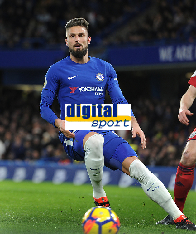 Football - 2017 / 2018 Premier League - Chelsea vs. West Bromwich Albion<br /> <br /> Olivier Giroud of Chelsea making his home debut at Stamford Bridge.<br /> <br /> COLORSPORT/ANDREW COWIE