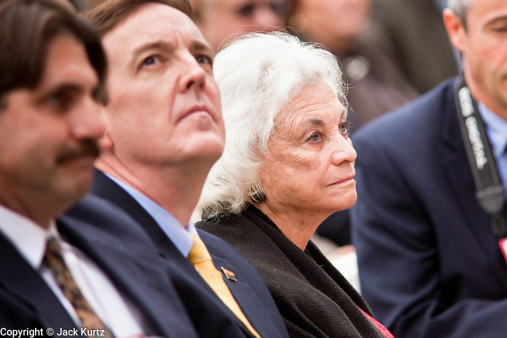14 FEBRUARY 2012 - PHOENIX, AZ:   Former US Supreme Court Justice and Arizona native SANDRA DAY O'CONNOR during centennial festivities at the State Capitol in Phoenix, Feb 14. Arizona's statehood day is February 14 and this year Arizona marked 100 years of statehood. It was the last state in the 48 contiguous United States.  PHOTO BY JACK KURTZ