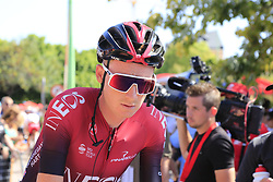 Tao Geoghegan Hart (GBR) Team Ineos at sign on before the start of Stage 5 of La Vuelta 2019 running 170.7km from L'Eliana to Observatorio Astrofisico de Javalambre, Spain. 28th August 2019.<br /> Picture: Eoin Clarke | Cyclefile<br /> <br /> All photos usage must carry mandatory copyright credit (© Cyclefile | Eoin Clarke)