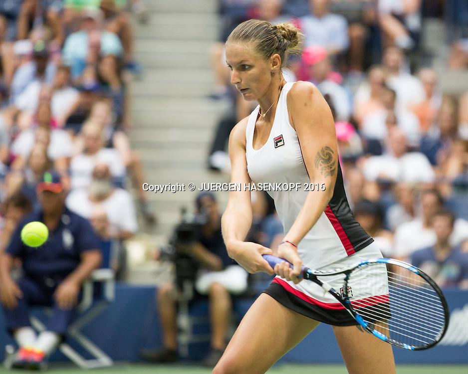 KAROLINA PLISKOVA (CZE),Tattoo,<br /> <br /> Tennis - US Open 2016 - Grand Slam ITF / ATP / WTA -  USTA Billie Jean King National Tennis Center - New York - New York - USA  - 10 September 2016.