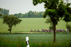 The peloton are happy to let the break go at Lotto Thüringen Ladies Tour 2019 - Stage 1, a 98.4 km road race in Gera, Germany on May 28, 2019. Photo by Sean Robinson/velofocus.com