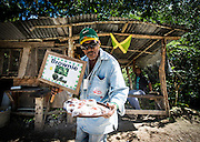 A guy that wants to sell us weed brownies, on the road back from blue hole. Ocho Rios, Jamaica. (Photo: Johany Jutras)