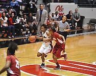 Ole Miss' Amber Singletary (20) vs. Alabama in NCAA women's basketball action in Oxford, Miss. on Sunday, January 13, 2013.  Alabama won 83-75.