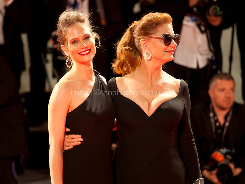 Paola Calliari and Susan Sarandon at the premiere of the film The Leisure Seeker (Ella & John) at the 74th Venice Film Festival, Sala Grande on Sunday 3 September 2017, Venice Lido, Italy.
