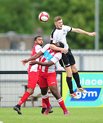CORBYS CONNOR KENNEDY HOLDS OF ROMULUS MALACHI FARQUHARSON, Corby Town v Romulus Steel Park, Corby Evo-Stik Northern Premier Division One South Saturday 12th August 2017